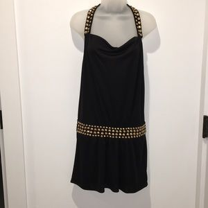 MILLY OF NEW YORK Gold Studded Dress